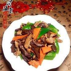 红蘑炒里脊肉