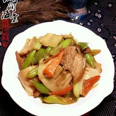 豆角春笋炒肉