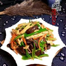 红蘑春笋炒腐竹