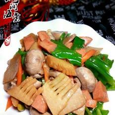 口蘑春笋炒火腿