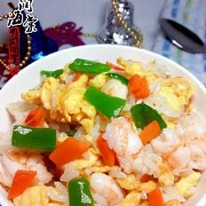 虾仁鸡蛋饭