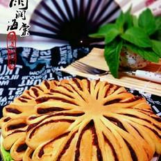 菊花豆沙面包