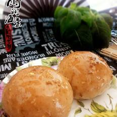 桂花蜂蜜豆沙面包