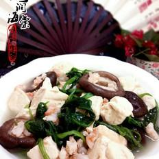 菠菜虾泥豆腐汤