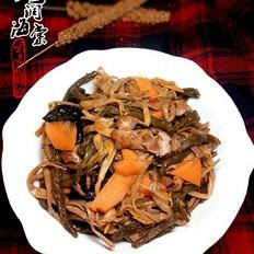 红烧排骨炖干菜