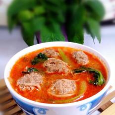 虾黄牛丸汤