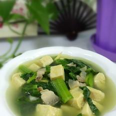 小白菜冻豆腐汤