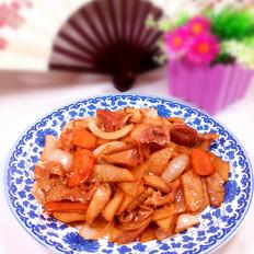 萝卜炒肚片