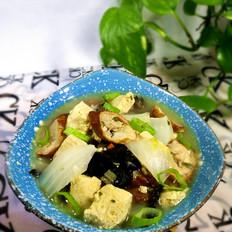 白菜大肠冻豆腐汤