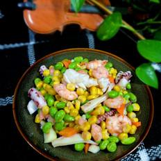 海鲜青豆玉米粒