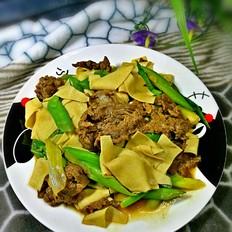 葱香牛肉干豆腐