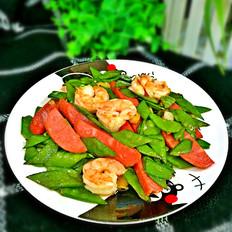 荷蘭豆蝦仁火腿