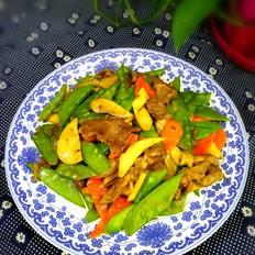荷兰豆鲍菇炒牛肉