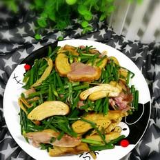 韭苔豆干鸭肉