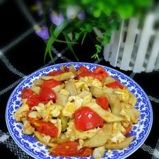 鲍菇番茄炒鸡蛋