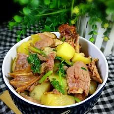 土豆炖鸭架