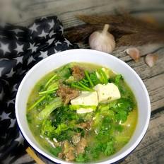 牛肉白菜豆腐汤