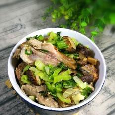 烤鸭烩香菇白菜