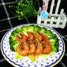 西兰花干煎虾