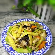 玉米笋香菇炒肉