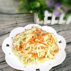 白菜心拌海米