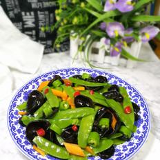 荷兰豆拌木耳