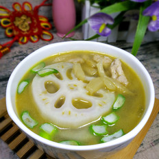 藕片榨菜肉丝汤