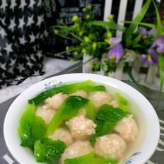 小白菜虾丸汤