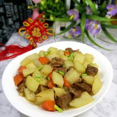 黄焖牛肉土豆块