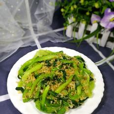 虾皮酥炒油菜
