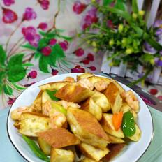 虾仁炒发面饼