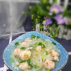 萝卜虾丸汤的做法