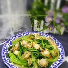 小白菜炒扇贝