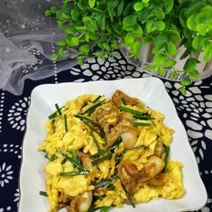 韭苔扇贝炒鸡蛋