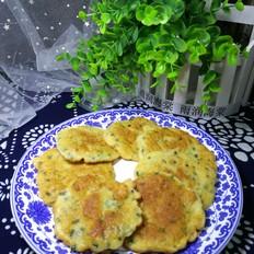 韭苔海米鸡蛋饼