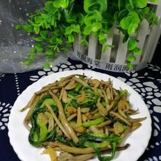 干煸茶树菇小白菜