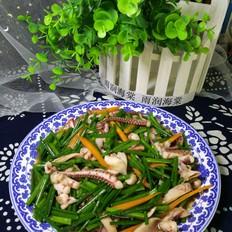 韭菜苔炒鱿鱼头