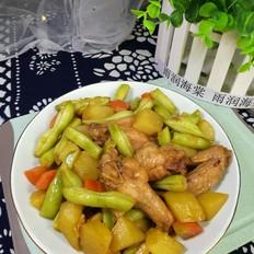 土豆豆角炖鸡翅