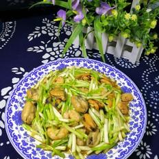 蒜黄炒贻贝虾仁