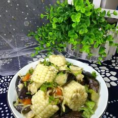 茄子花蚬子烩玉米