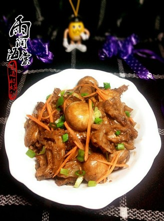 海参斑炖口蘑的做法