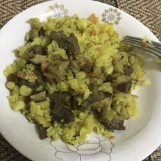 咖喱风干羊肉焖饭