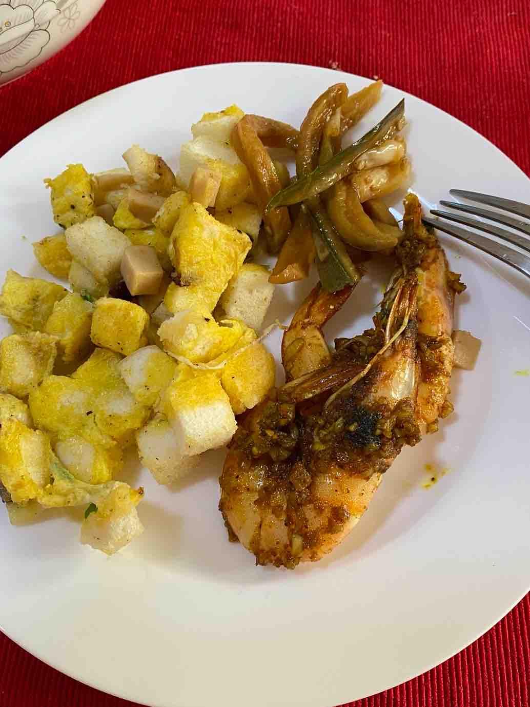 香煎小馒头➕咖喱虾套餐