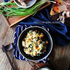 红薯菠菜糙米饭