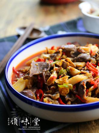 泡椒藕带炒鸡胗的做法
