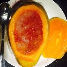 木瓜炖雪蛤桃胶