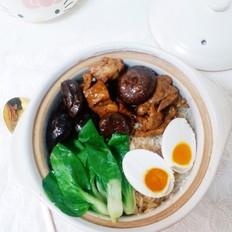 排骨香菇煲仔饭