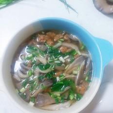 蘑菇汆肉丸汤