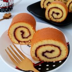 蓝莓果酱蛋糕卷的做法