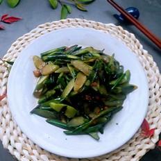 爆炒红菜苔